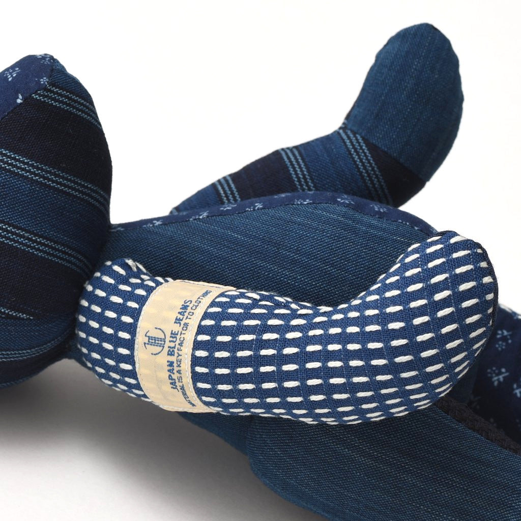 Japan Blue Indigo Sashiko Patchwork Teddy Bear - Okayama Denim Accessories - Selvedge