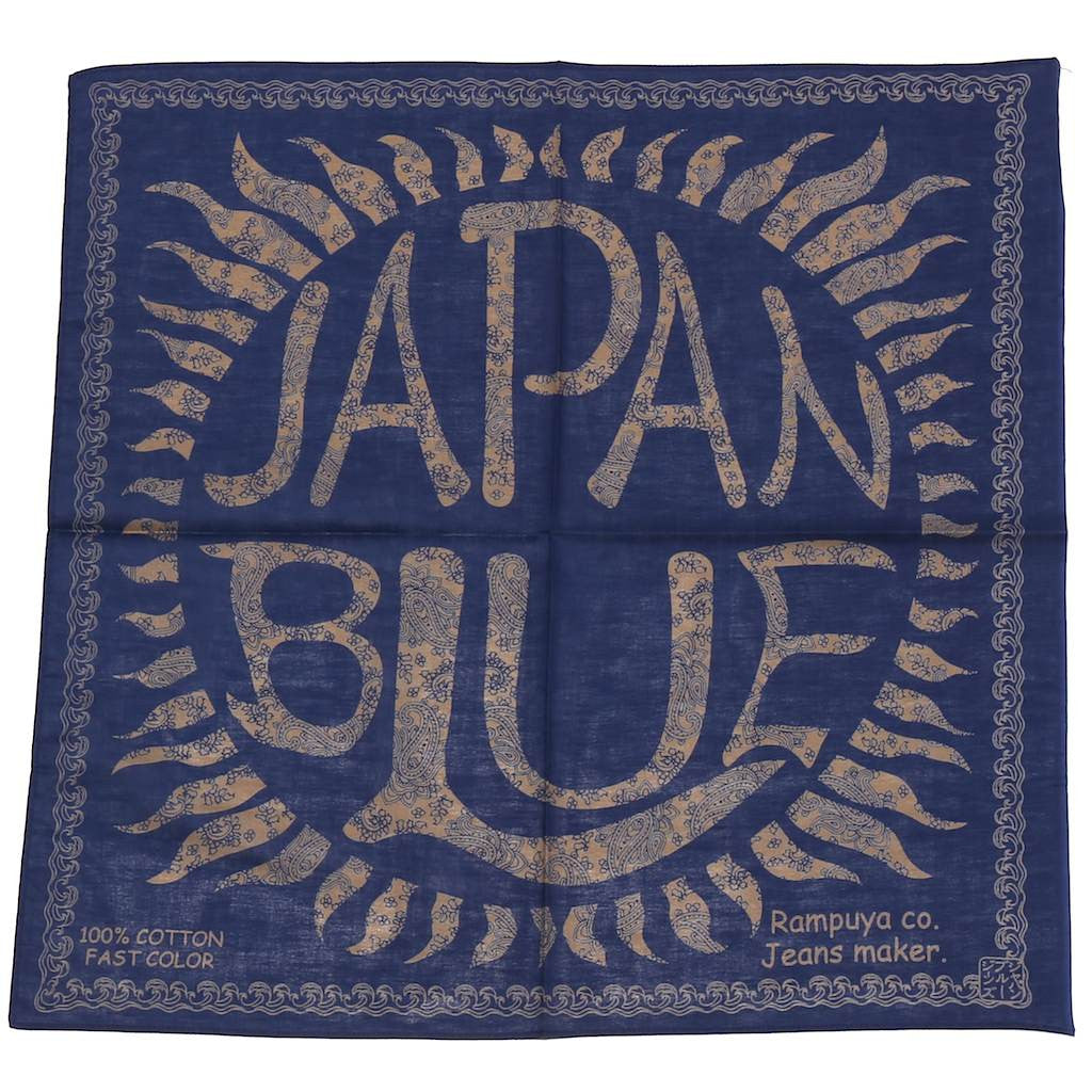 Japan Blue Logo Bandanna - Okayama Denim Accessories - Selvedge