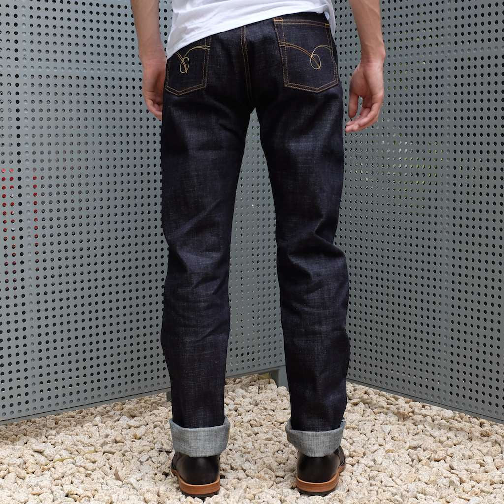 Japan Blue JB05S12 16.5oz. Pocket Stitch (Regular Straight) - Okayama Denim Jeans - Selvedge
