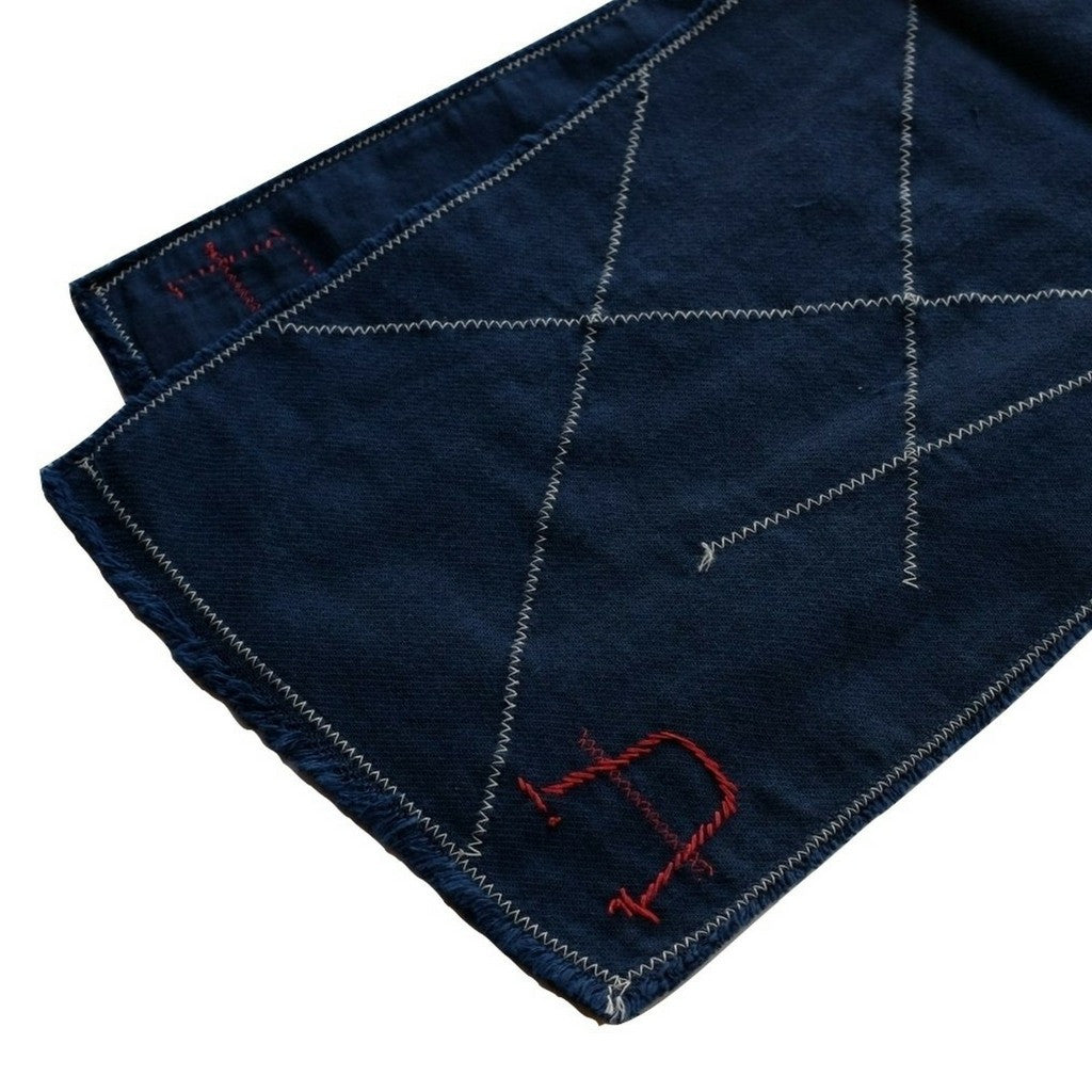 Japan Blue Double Gauze Indigo Scarf - Okayama Denim Accessories - Selvedge