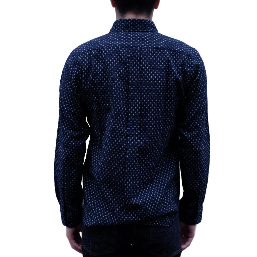 "Japan Blue ""Shijira"" Sashiko Shirt (Navy)"