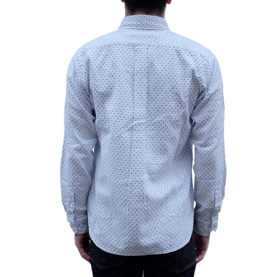 "Japan Blue ""Shijira"" Sashiko Shirt (White)"