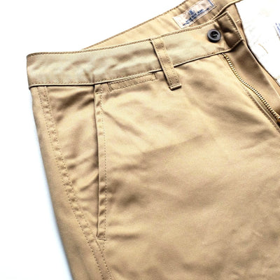 Japan Blue JB5500 West Point Shorts (Beige) - Okayama Denim Pants - Selvedge