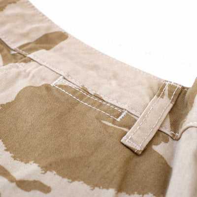 Japan Blue Desert Tiger Stripe Camo Shorts - Okayama Denim Pants - Selvedge
