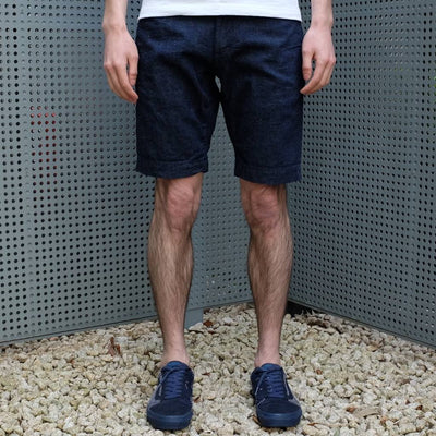 Japan Blue 8oz. Cotton x Linen Selvedge Denim Shorts - Okayama Denim Pants - Selvedge