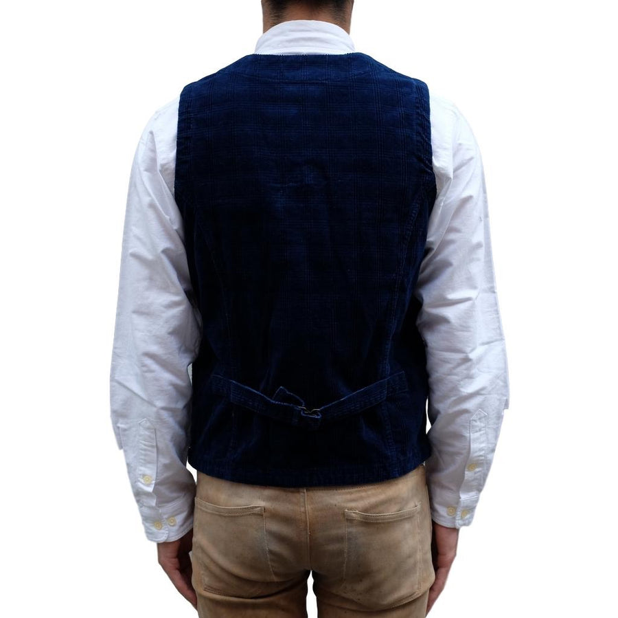 Japan Blue Indigo Corduroy Urban Vest