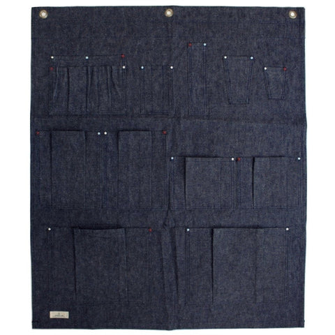 Japan Blue Denim Wall Drape - Okayama Denim Accessories - Selvedge