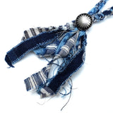 Japan Blue Braided Denim Necklace - Okayama Denim Accessories - Selvedge