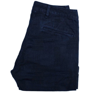 Japan Blue Indigo Dyed Jacquard Shorts - Okayama Denim Pants - Selvedge