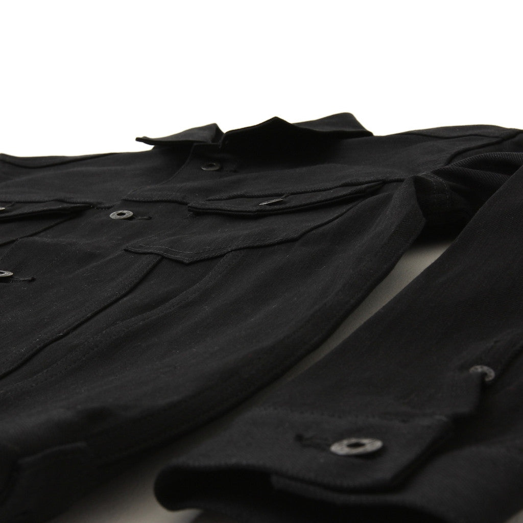 Japan Blue JBJK1016 14oz. Type III Black x Black Selvedge Denim Jacket