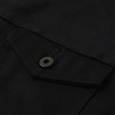 Japan Blue JBJK1016 14oz. Type III Black x Black Selvedge Denim Jacket - Okayama Denim Jacket - Selvedge