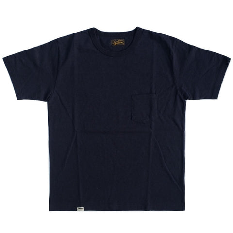 Japan Blue Côte d'Ivoire Cotton Pocket Tee (Navy)