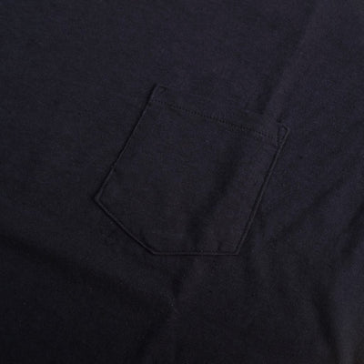 Japan Blue Côte d'Ivoire Cotton Pocket Tee (Navy) - Okayama Denim T-Shirts - Selvedge