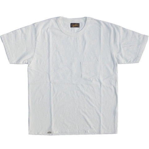Japan Blue Côte d'Ivoire Cotton Pocket Tee (White)