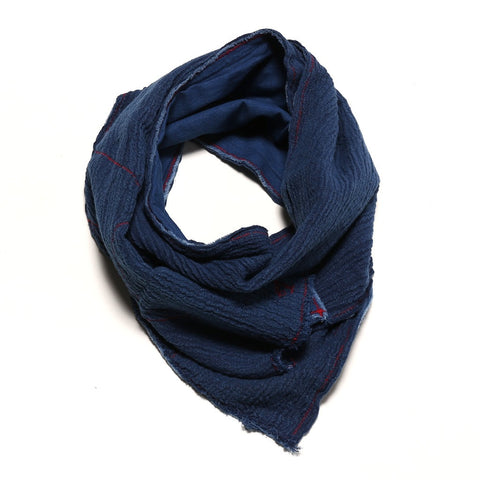 Japan Blue Indigo Re-Make Gauze Scarf - Okayama Denim Accessories - Selvedge