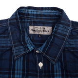 Kamikaze Attack Indigo Dyed Check Shirt - Okayama Denim Shirt - Selvedge