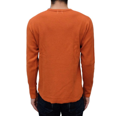 Loop & Weft Double Face Wire Mesh Crewneck Thermal (Russet Orange) - Okayama Denim T-Shirts - Selvedge