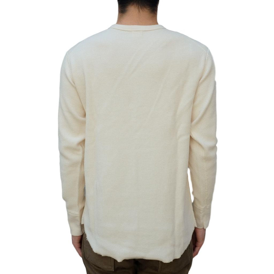 Loop & Weft Double Face Wire Mesh Crewneck Thermal (Ivory) - Okayama Denim T-Shirts - Selvedge