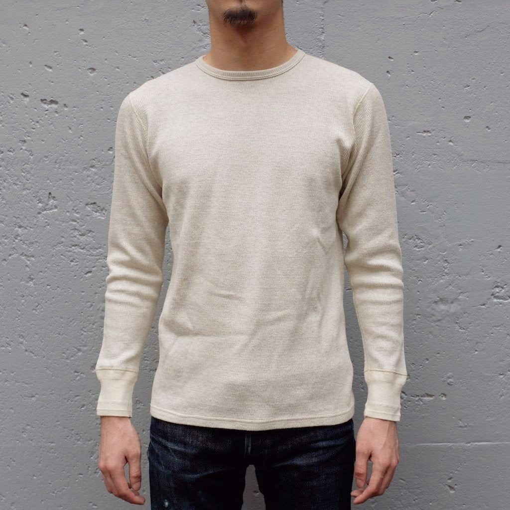 Loop & Weft LRC1028 Double Face Crewneck Thermal (Oatmeal) - Okayama Denim T-Shirts - Selvedge
