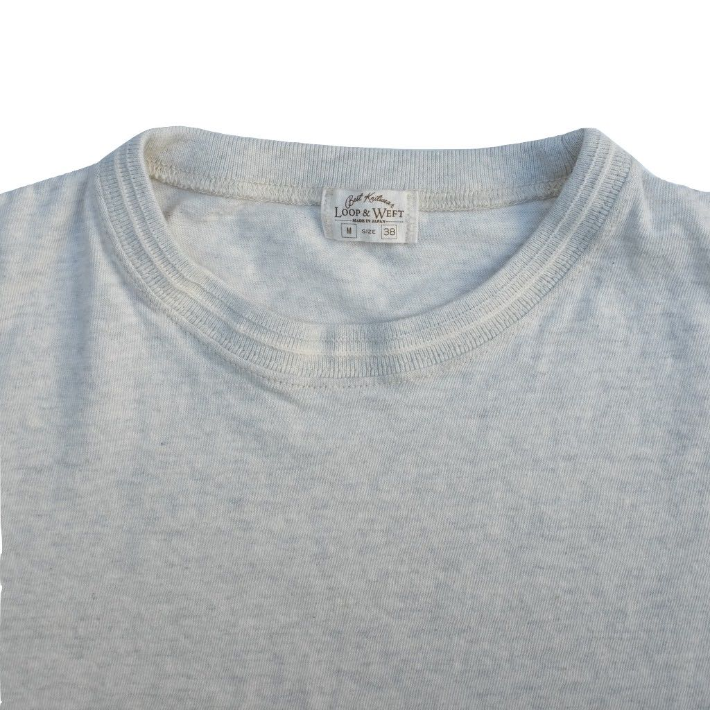 Loop & Weft LRC1037 San Joaquin Cotton Crewneck Tee (Oatmeal / Light Gray)