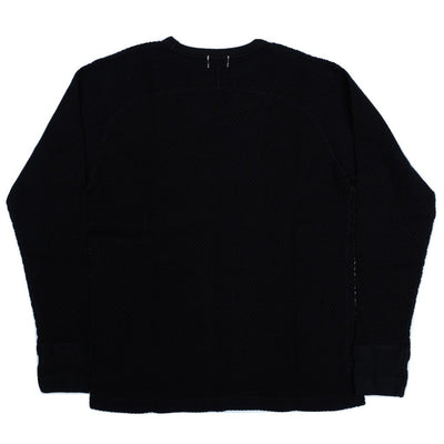 Loop & Weft LRC1044 Diamond Mesh Crewneck Thermal (Black)