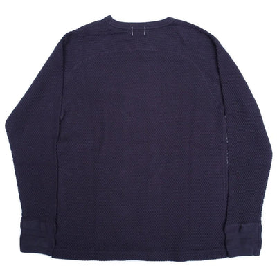 Loop & Weft LRC1044 Diamond Mesh Crewneck Thermal (Navy)