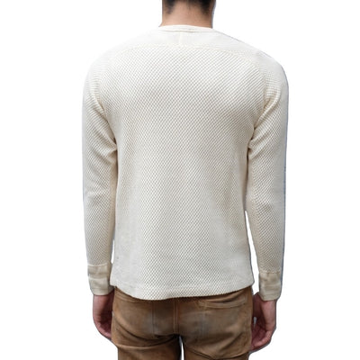 Loop & Weft LRC1044 Diamond Mesh Crewneck Thermal (Pearl White)