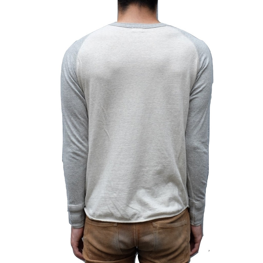 Loop & Weft LRC1046 San Joaquin Cotton L/S Crewneck Tee (Oatmeal / Light Gray) - Okayama Denim T-Shirts - Selvedge