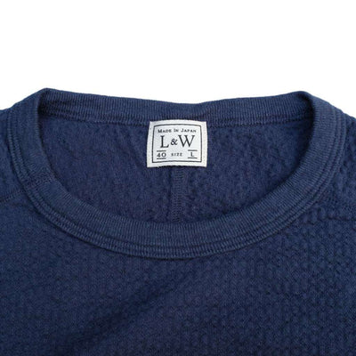 Loop & Weft LRC1048 Striped-Rib Knit Military Undershirt (Navy)