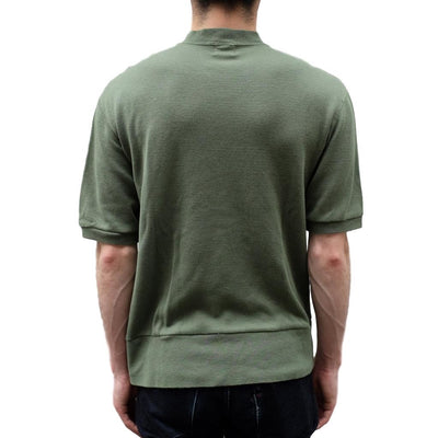Loop & Weft Lightweight Honeycomb Thermal Mock Neck Tee