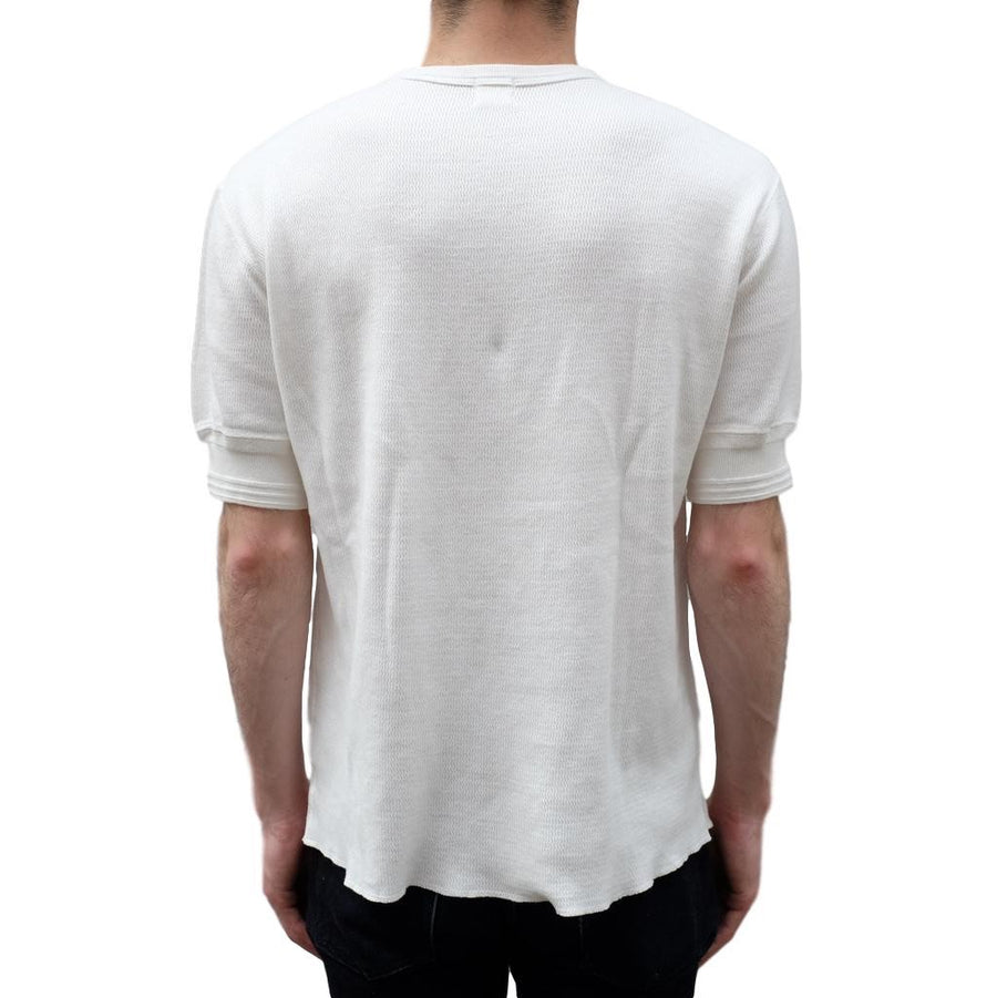 Loop & Weft Lightweight Honeycomb Thermal Tee (White) - Okayama Denim T-Shirts - Selvedge