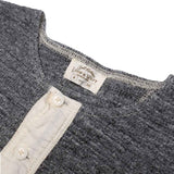 Loop & Weft LRH1011 Double Face Thermal Henley (Deep Gray) - Okayama Denim T-Shirts - Selvedge