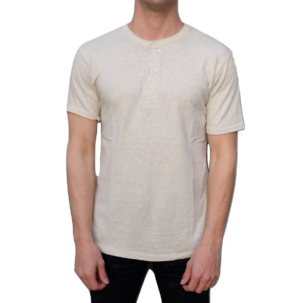 Loop & Weft LRH1018 San Joaquin Cotton Double Breasted S/S Henley (Oatmeal)