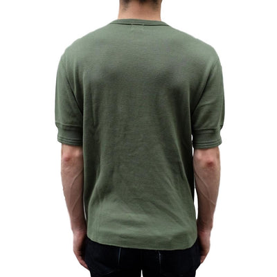 Loop & Weft Lightweight Honeycomb Thermal Henley (Olive)