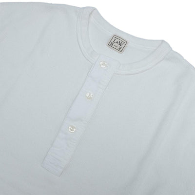 Loop & Weft Lightweight Honeycomb Thermal Henley (White)