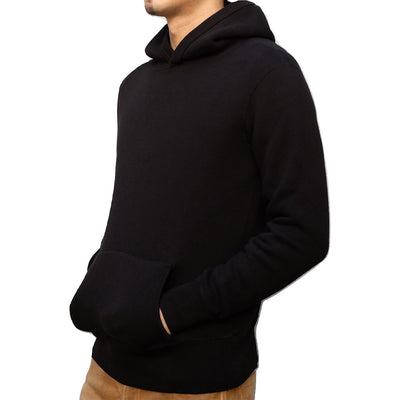 Loop & Weft LTS1004 Tompkins Knit 1950s Hooded Sweatshirt (Black)