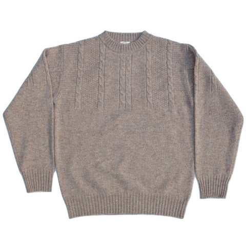 Loop & Weft Merino Lambswool Sand Nep Sweater