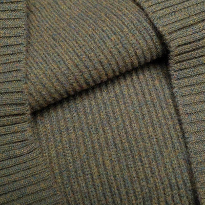 Loop & Weft Merino Lambswool Military Crewneck Sweater (Olive)
