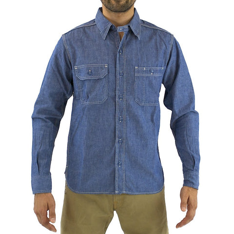 Momotaro MS033 5oz. Chambray Shirt