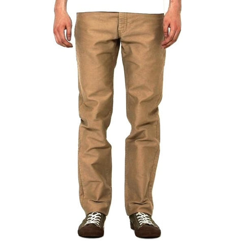 Momotaro 01-021 Beige Moleskin Trousers (Slim Tapered)