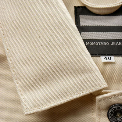 Momotaro Water Resistant Canvas Work Jacket (Natural)