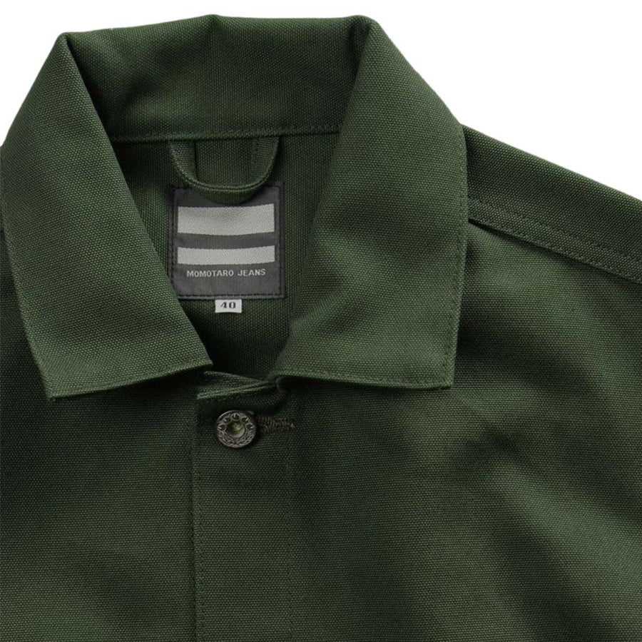 Momotaro Water Resistant Canvas Work Jacket (Olive)
