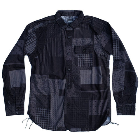 Momotaro Patchwork Shirt (Black)