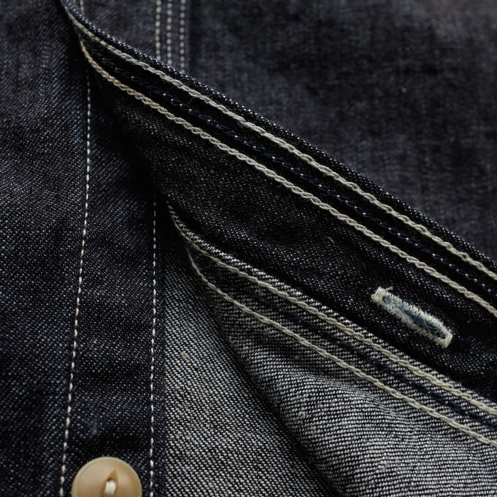 Momotaro 10oz. Selvedge Denim Cigarette Pocket Work Shirt