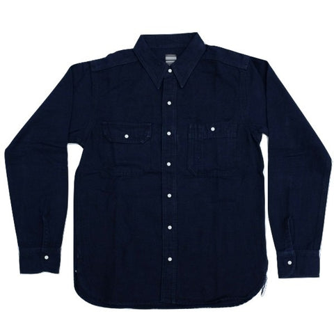 Momotaro Indigo Dyed Grosgrain Selvedge Work Shirt