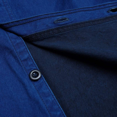 Momotaro Indigo x Black Oxford Selvedge Work Shirt