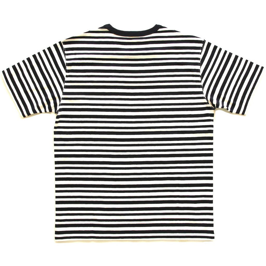 Momotaro Original Border Pocket Tee (Navy)