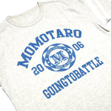 Momotaro 07-029 College Print Tee (Light Gray)