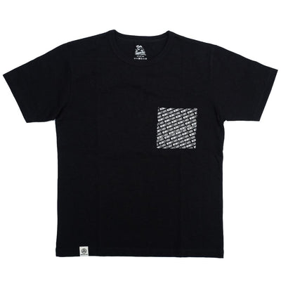 Momotaro All Over Print Pocket Tee (Black)