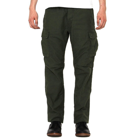 Momotaro Back Satin Olive Cargo Pants (Slim Tapered)